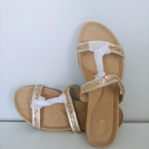 Tony Little Cheeks Pure Comfort Sandal - Gold